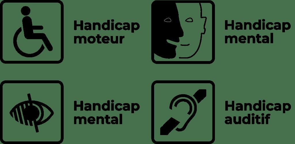 pictogrammes accessibilité handicap
